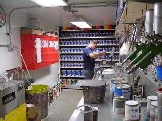 Al's Auto Body Paint Mixing Room