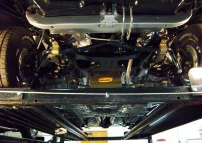 1966 Dodge charger restoration shot from below