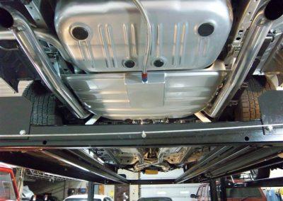 1966 Dodge Charger Restoration | Shot of work under car 2