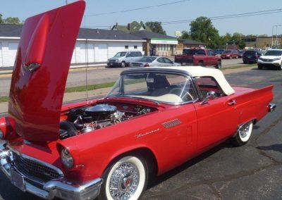 1957 red Ford Thunderbird | Car Restoration photo 3