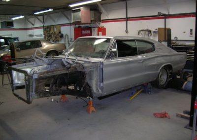 1966 Dodge Charger Restoration | Front-end panels removed